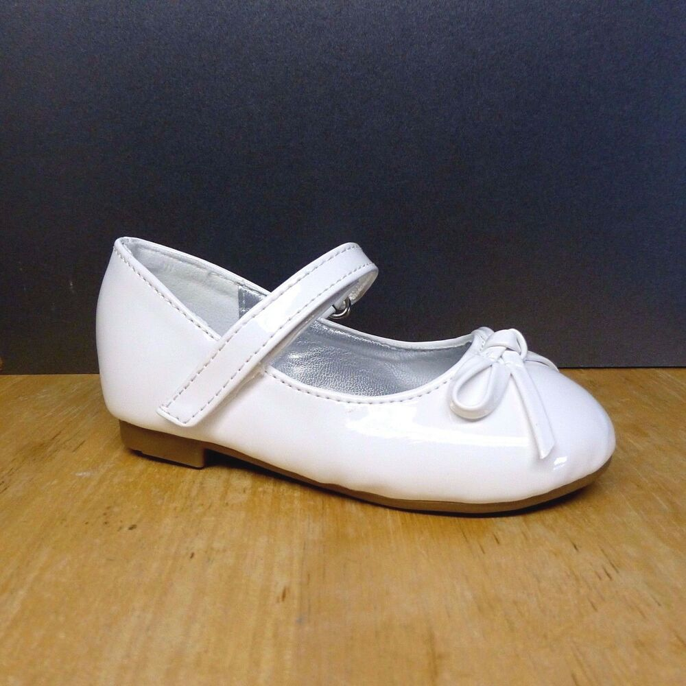 Girl White Medium Dress Shoes Baby & Toddler Size 5,6,7,8 ...