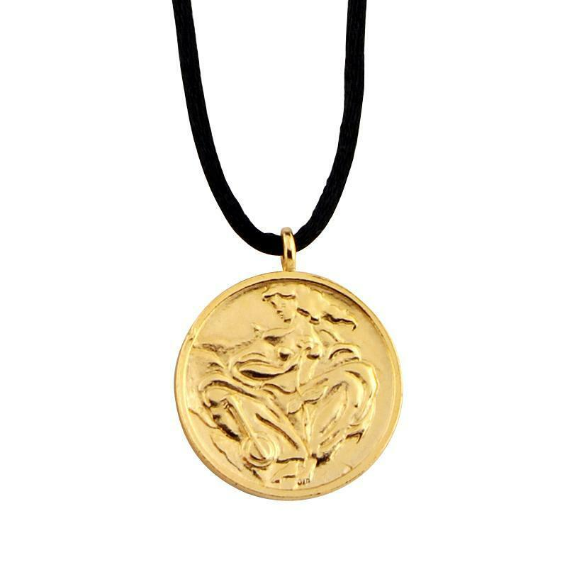 """Linda Le Kinff """"woman"""" Cast Signed Medallion Necklace. Round Pendant Chains. Gold White Chains. Antiqued Silver Chains. Seeme Chains. God Chains. Katherine Name Chains. Twist Rope Chains. Man 2015 Chains"""