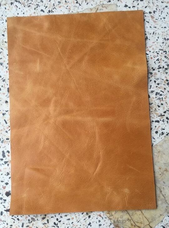 madebyorder 1 piece a4 oil leather sheet genuine cow