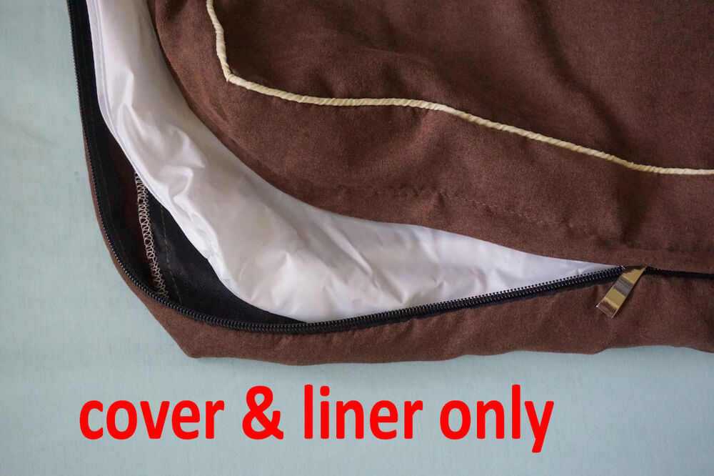 Durable Suede Zipper Cover Waterproof Liner For Dog Bed