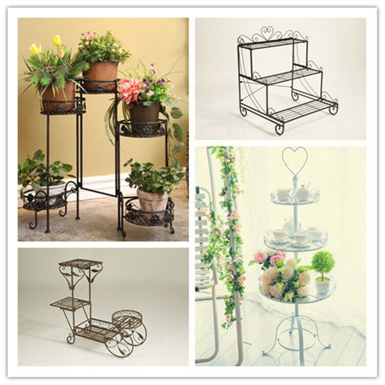 Dipamkar Foldable 5 Tier Metal Plant Stand Display Shelf