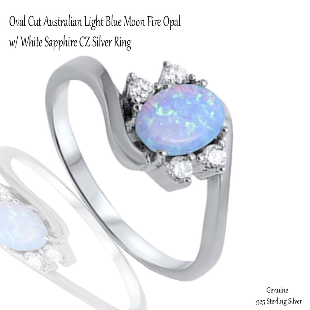 Fire Opal And Sapphire Ring