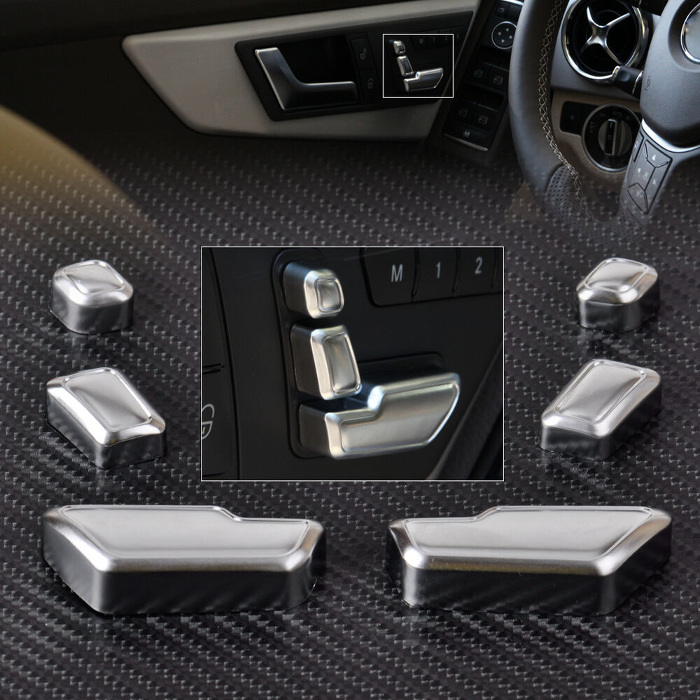 Chrome Door Seat Adjust Button Switch Cover Trim For