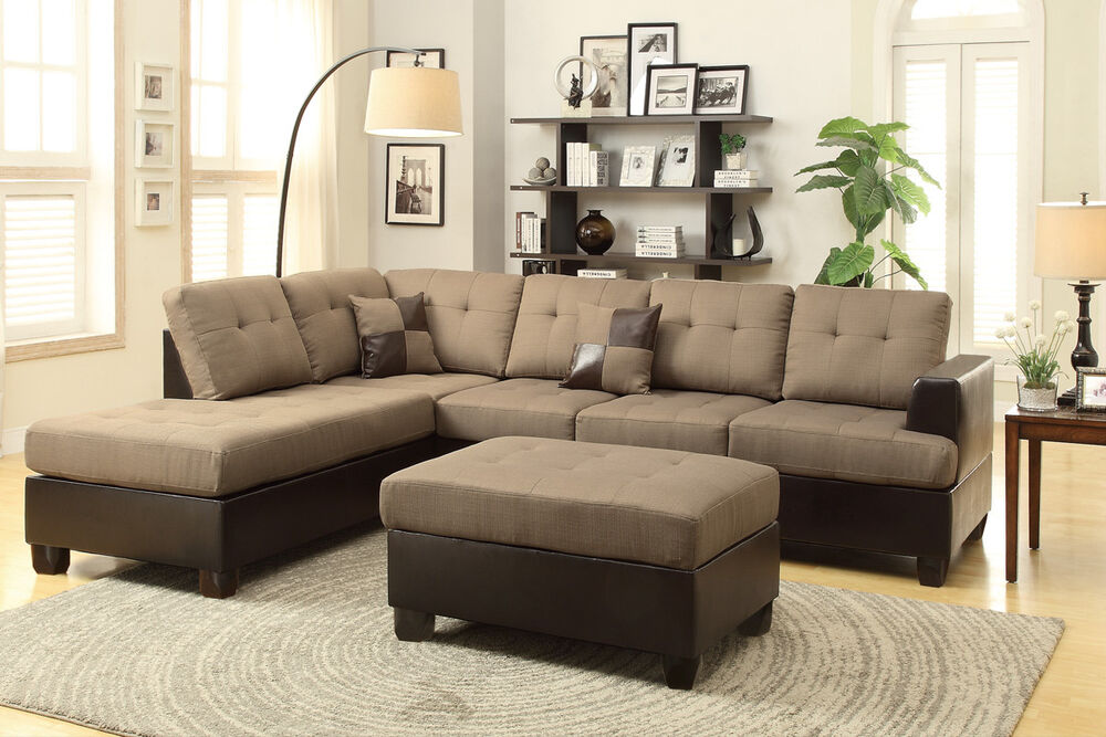 3pcs set sofa sectional sectionals couch chaise corner With 3pcs sectional sofa set with ottoman