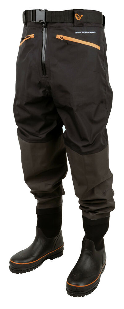 Savage gear breathable waist waders fishing rubber boot for Men s fishing waders