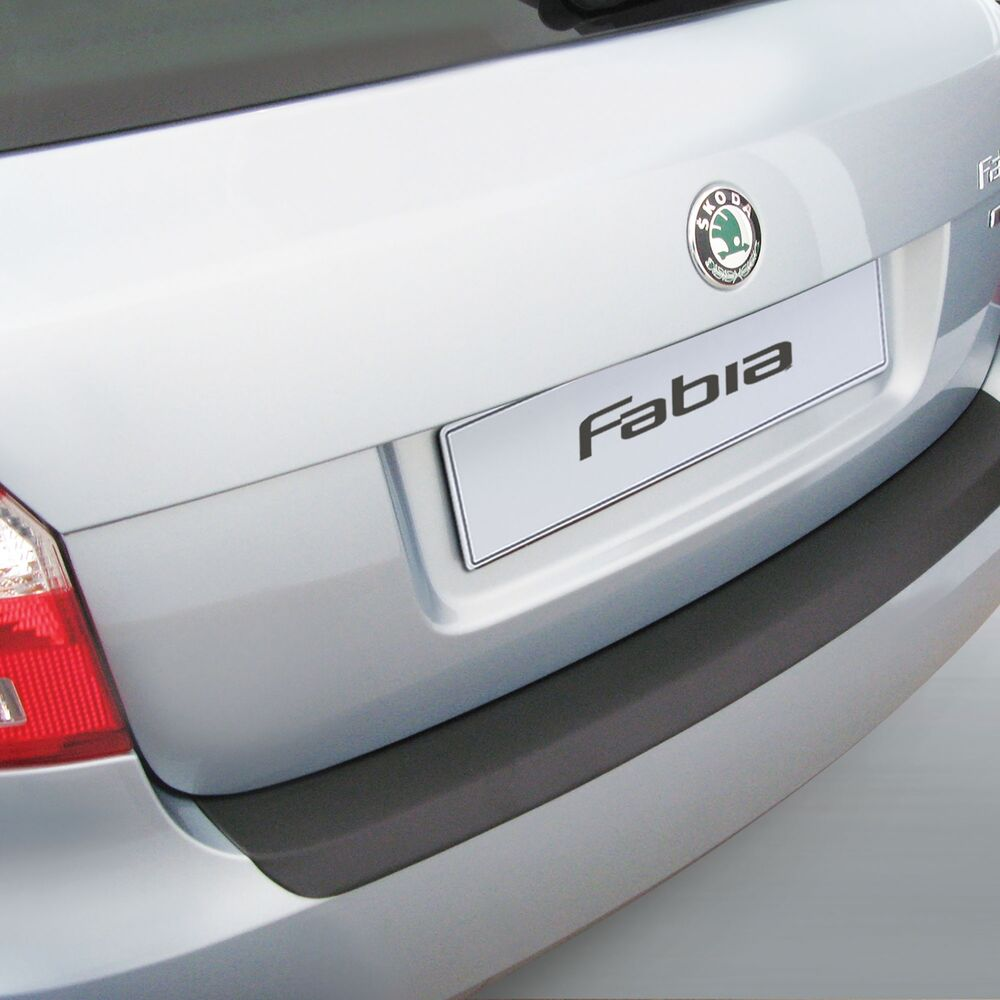 RGM Black Rear Bumper Guard For Skoda Fabia Mk2 2010 2014