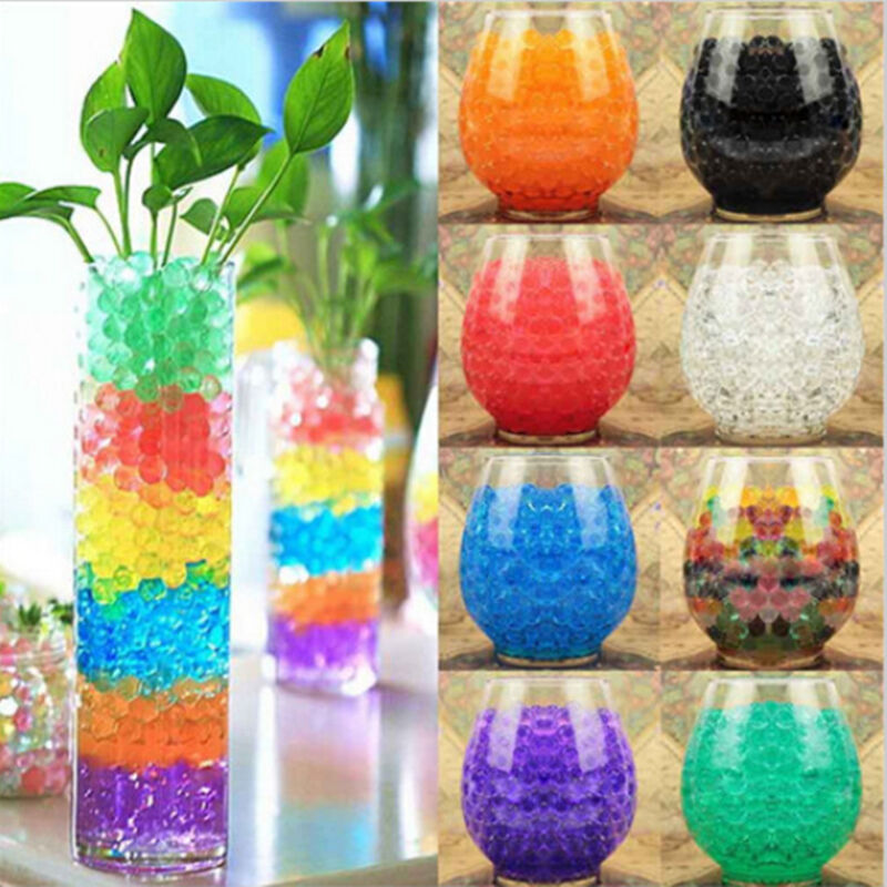 water plant flower jelly crystal soil hydro pearls gel beads ball wedding party ebay. Black Bedroom Furniture Sets. Home Design Ideas