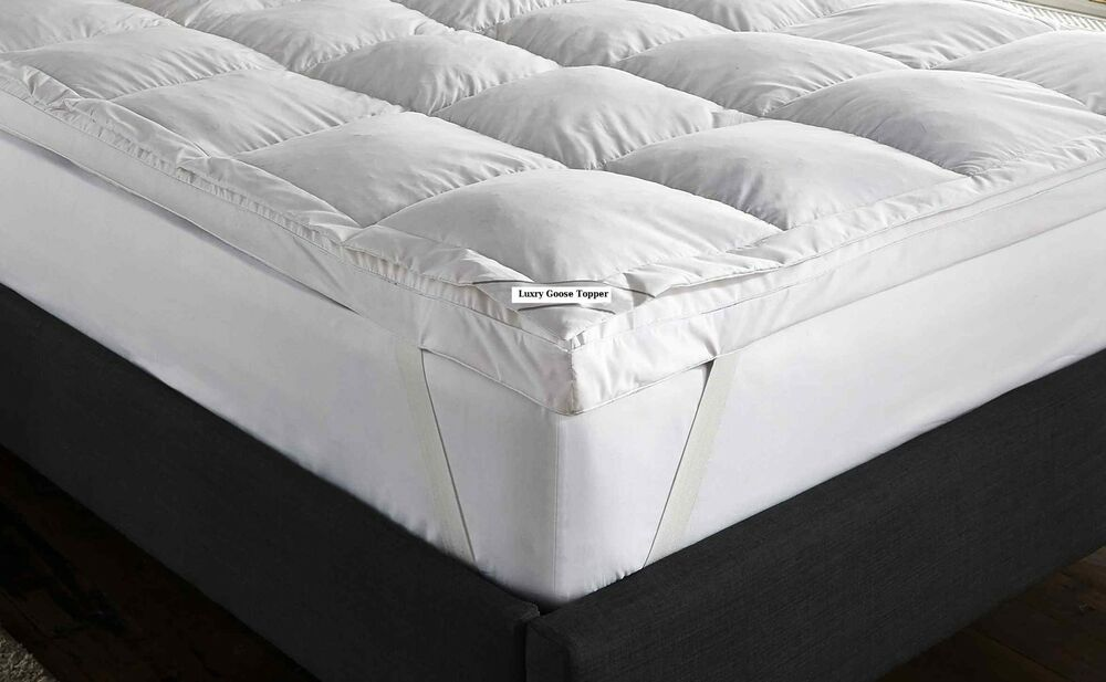 Goose Feather Amp Down Mattress Topper White All Sizes