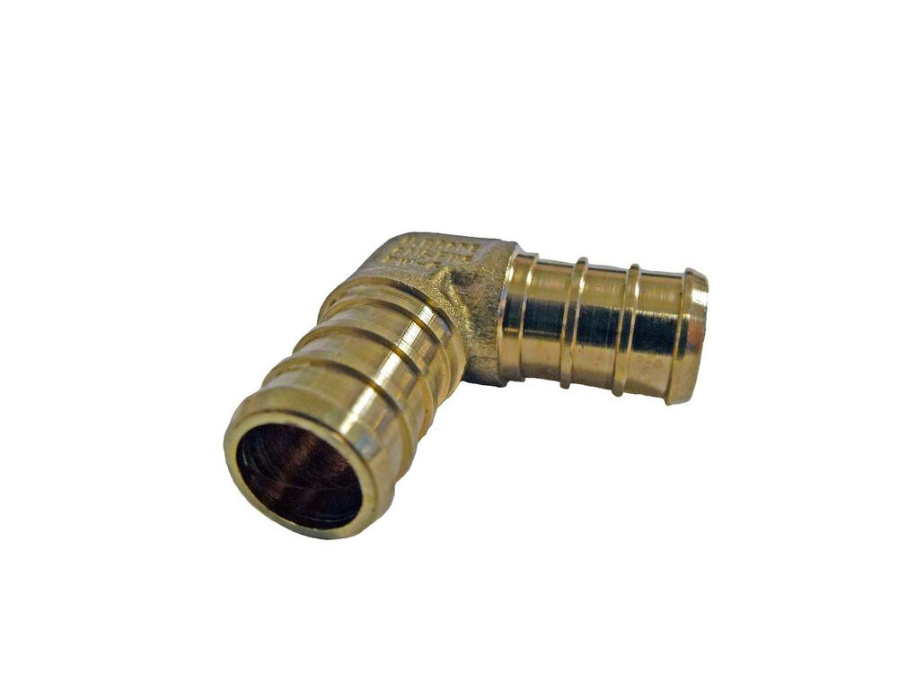 Inch pex elbows lead free brass crimp fittings bag