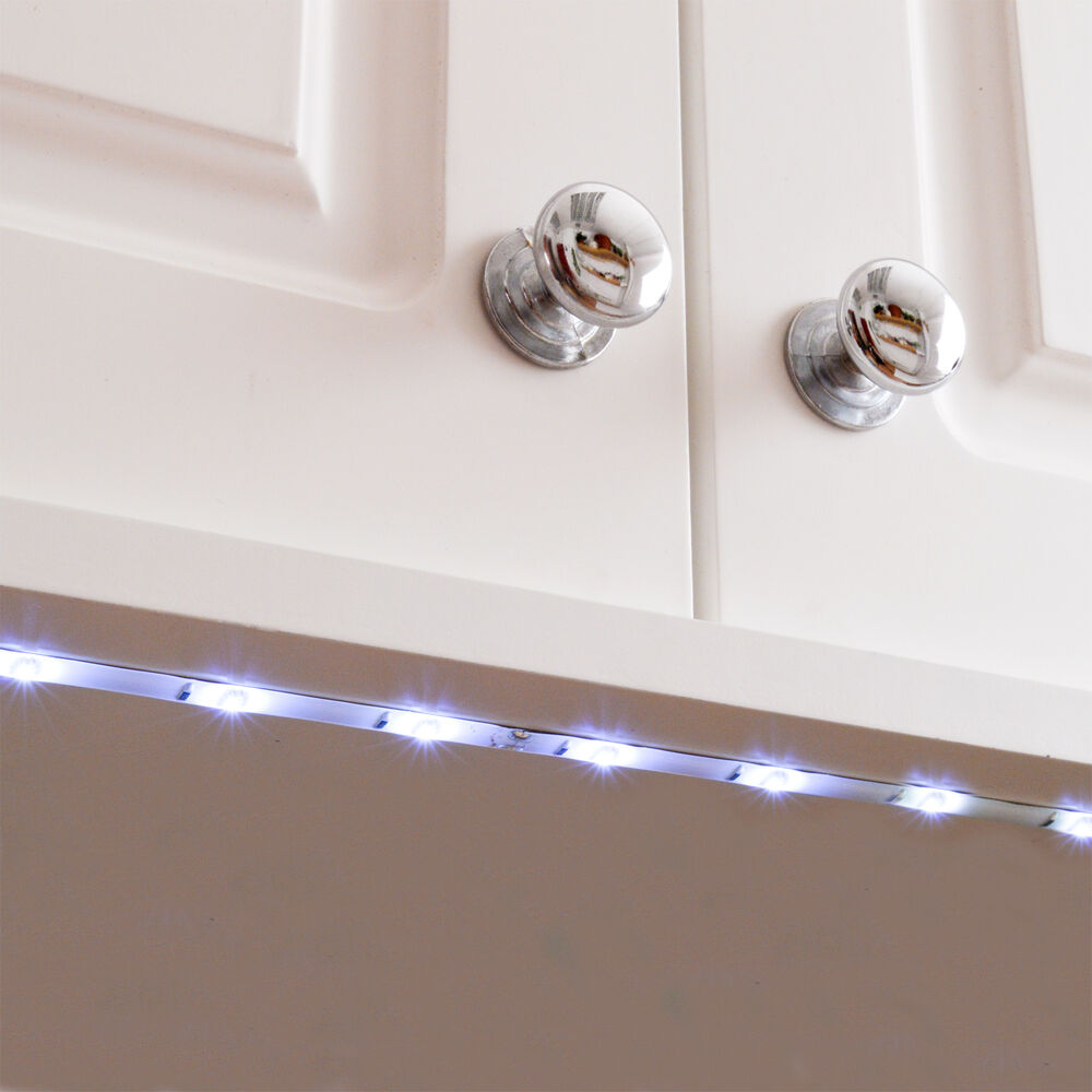 Kitchen Under Cabinet Strip Lighting: Kitchen Under Cupboard Lights Flexible 18 LED Strip