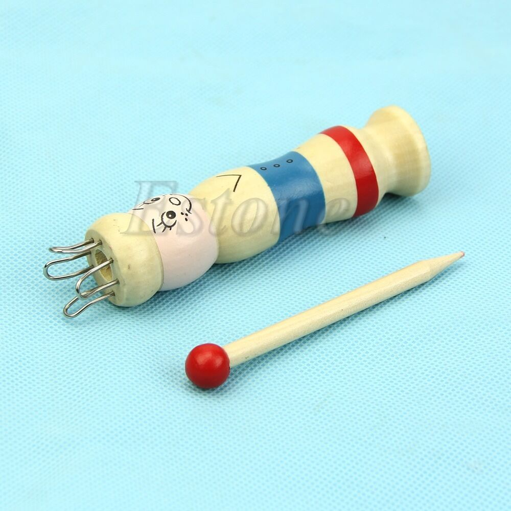 Knitting Looms Wood : Wooden yarn wool knitter knitting diy doll craft loom rope