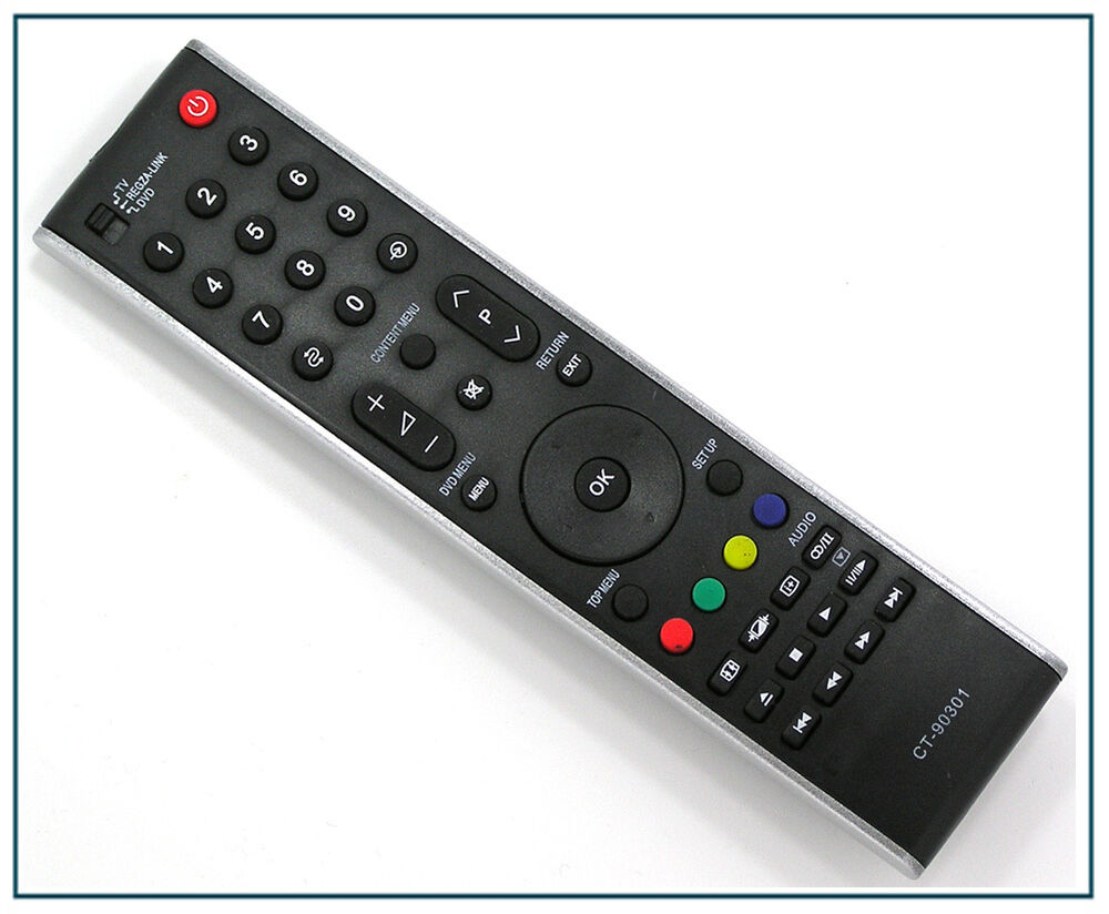 ersatz fernbedienung f r toshiba ct 90301 tv fernseher remote control neu ebay. Black Bedroom Furniture Sets. Home Design Ideas