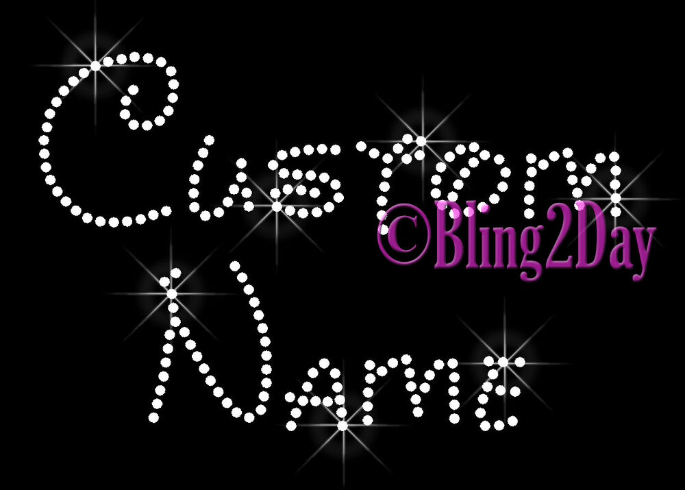disney font customize name or phase rhinestone iron on transfer bling ebay. Black Bedroom Furniture Sets. Home Design Ideas