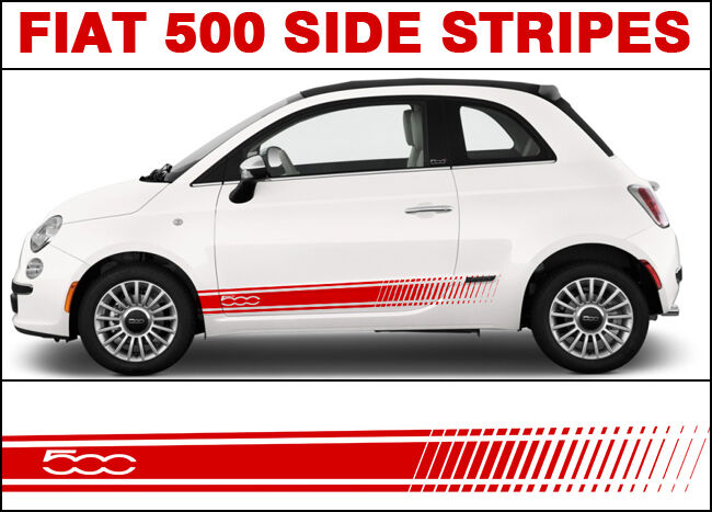 Fiat 500 500c Side Stripe Decal Stickers Graphics Abarth