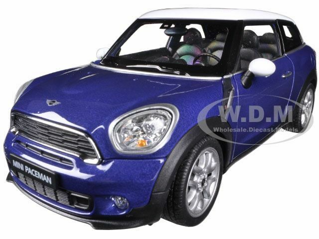 mini cooper s paceman blue 1 24 diecast car model by welly 24050 ebay. Black Bedroom Furniture Sets. Home Design Ideas