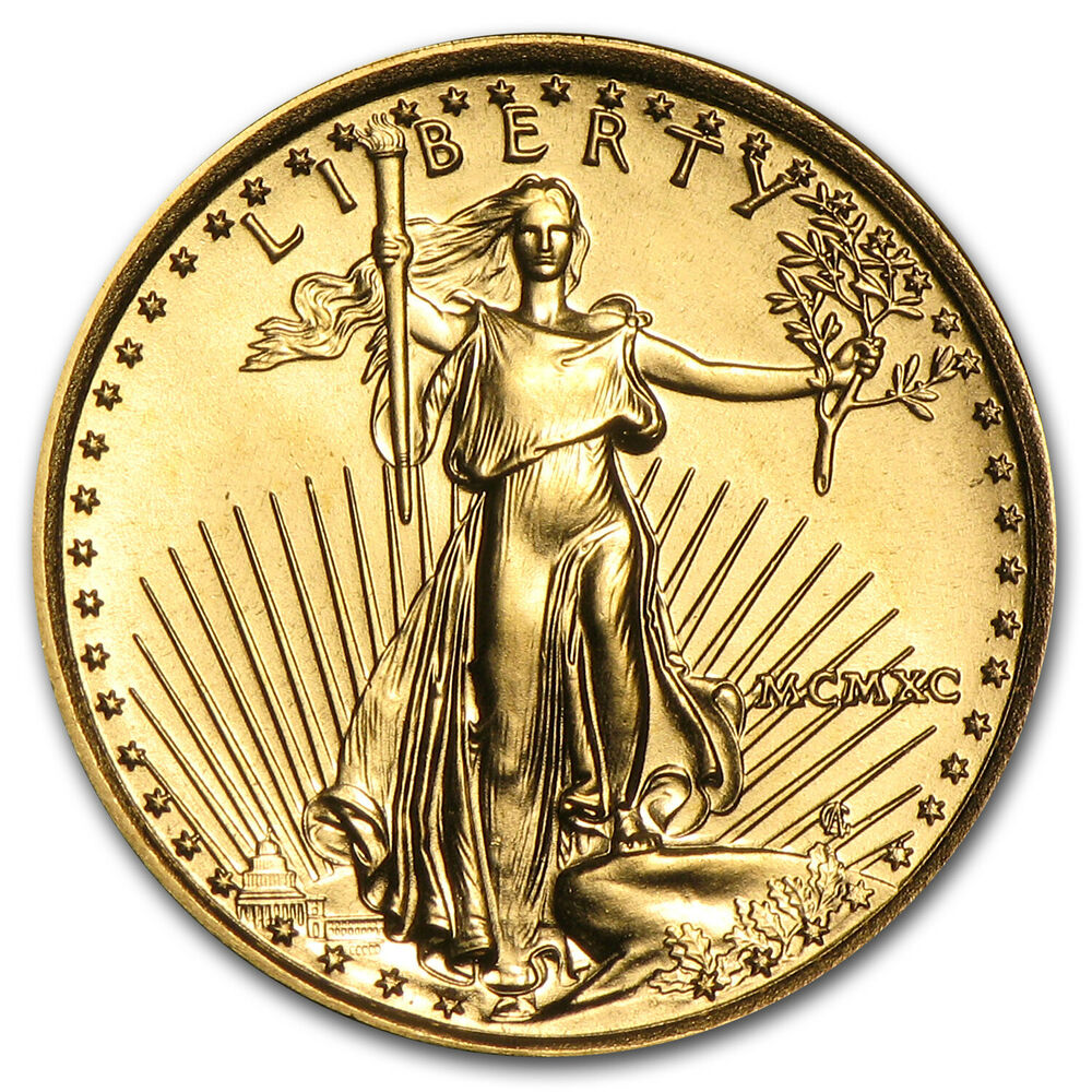 1990 1 10 Oz Gold American Eagle Coin Brilliant