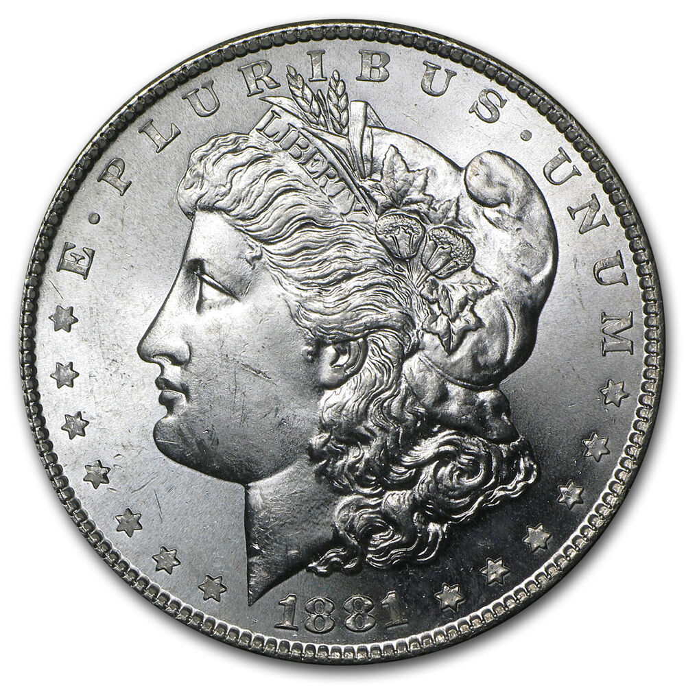 1881 s morgan silver dollar brilliant uncirculated ebay for Dollar jewelry and more