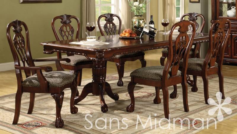 Dark Wood Finish Modern Dining Room W Optional Items: NEW Furniture! 7 Pc Brunswick Formal Dining Room Set
