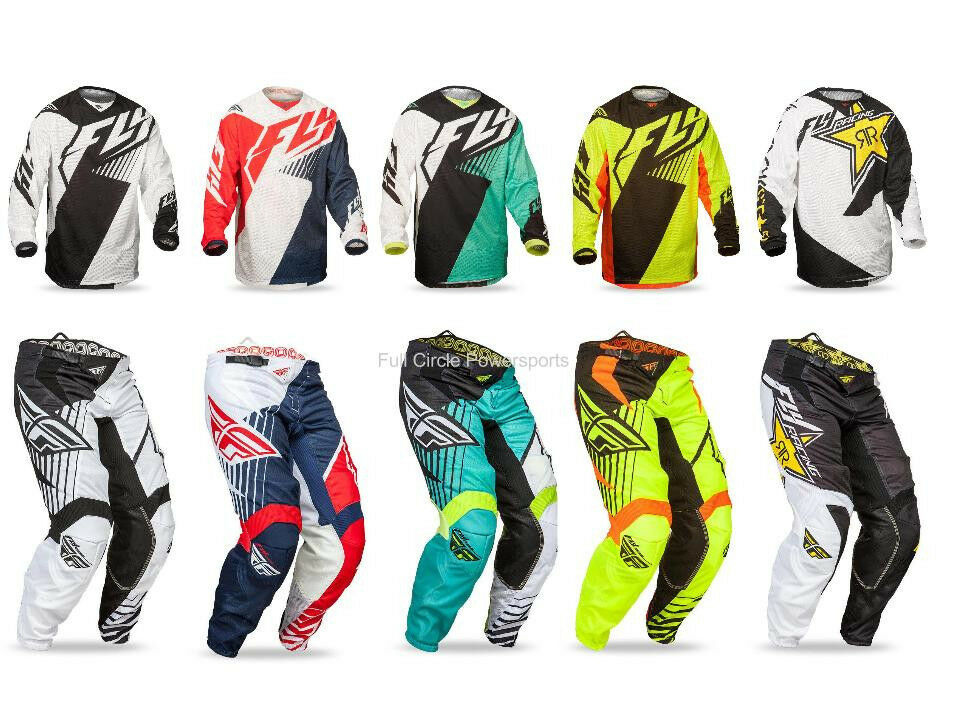 Fly Racing Kinetic Mesh Vector Jersey Pant Combo Set Mx