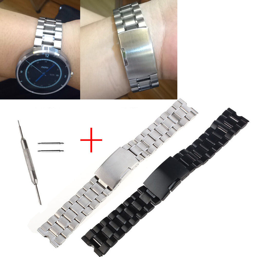 22mm stainless steel metal watch band strap for motorola moto 360 1st 1gen tools ebay for Metal watches