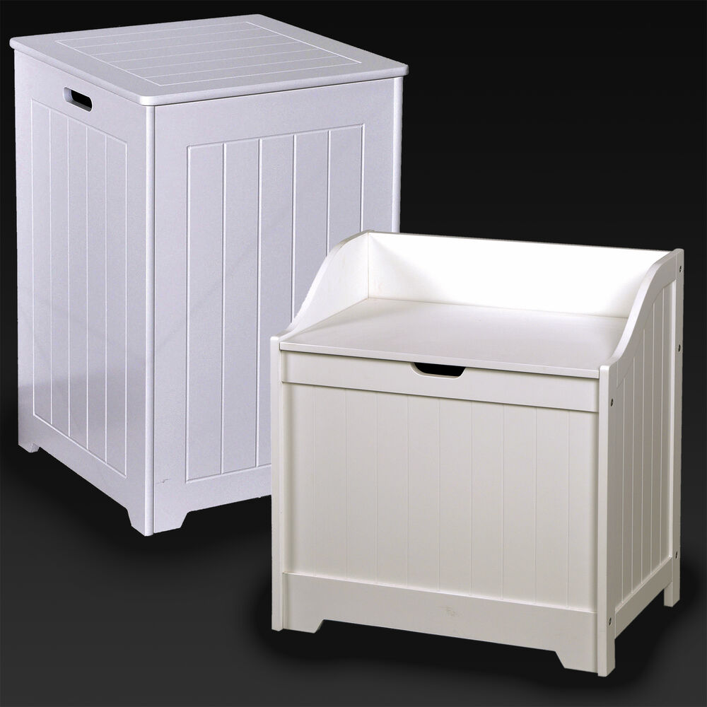 laundry basket bin white wooden hamper basket bathroom. Black Bedroom Furniture Sets. Home Design Ideas