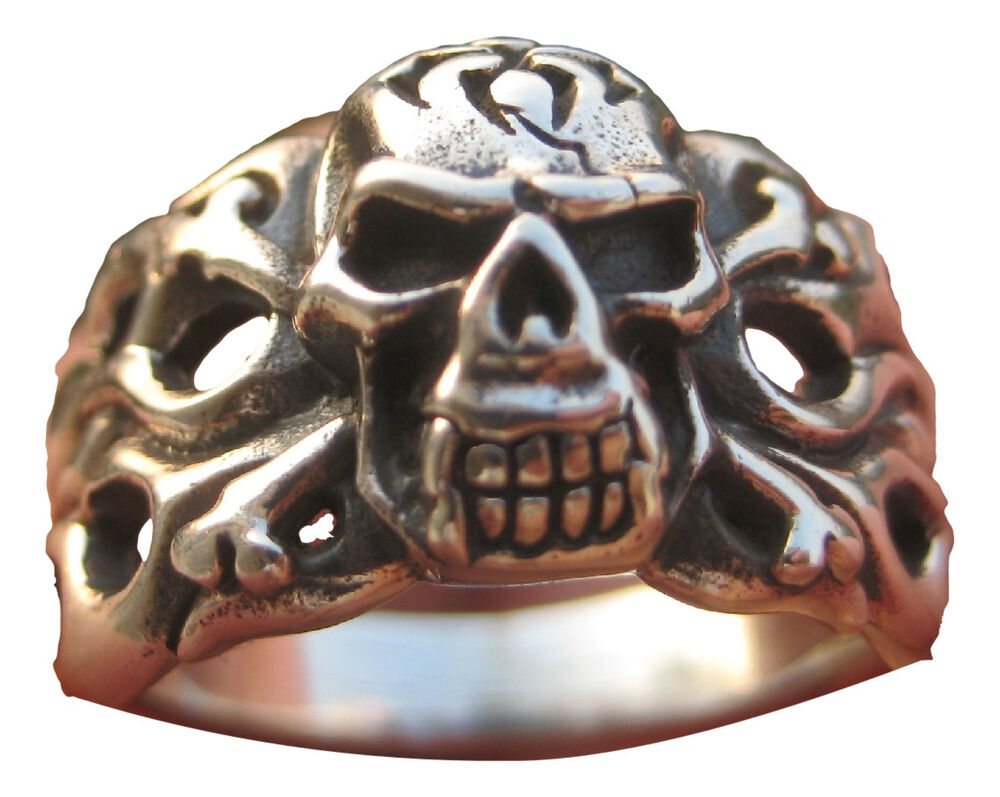 Sterling Silver Skull Flames Ring Thailand Jewelry Art A Ebay