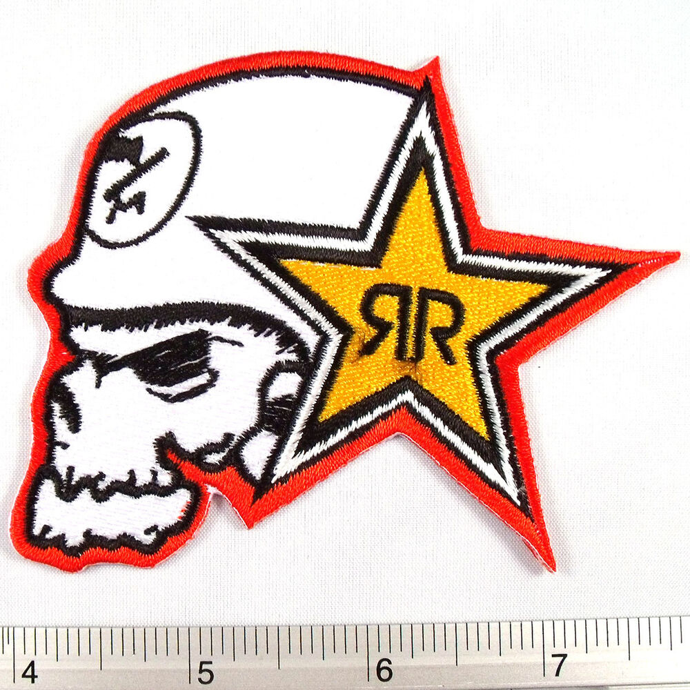 Metal mulisha band embroidered iron on patches appliques