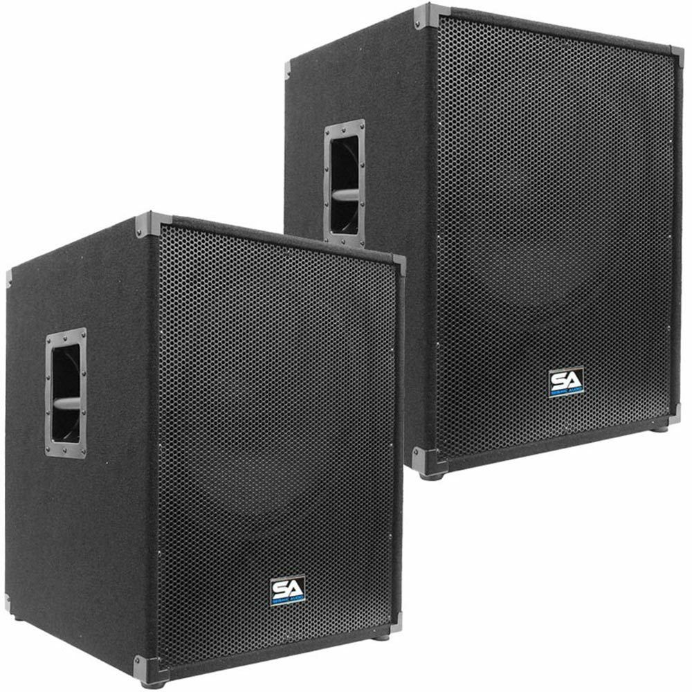 seismic audio two new 18 inch sub woofers pa dj 1000. Black Bedroom Furniture Sets. Home Design Ideas