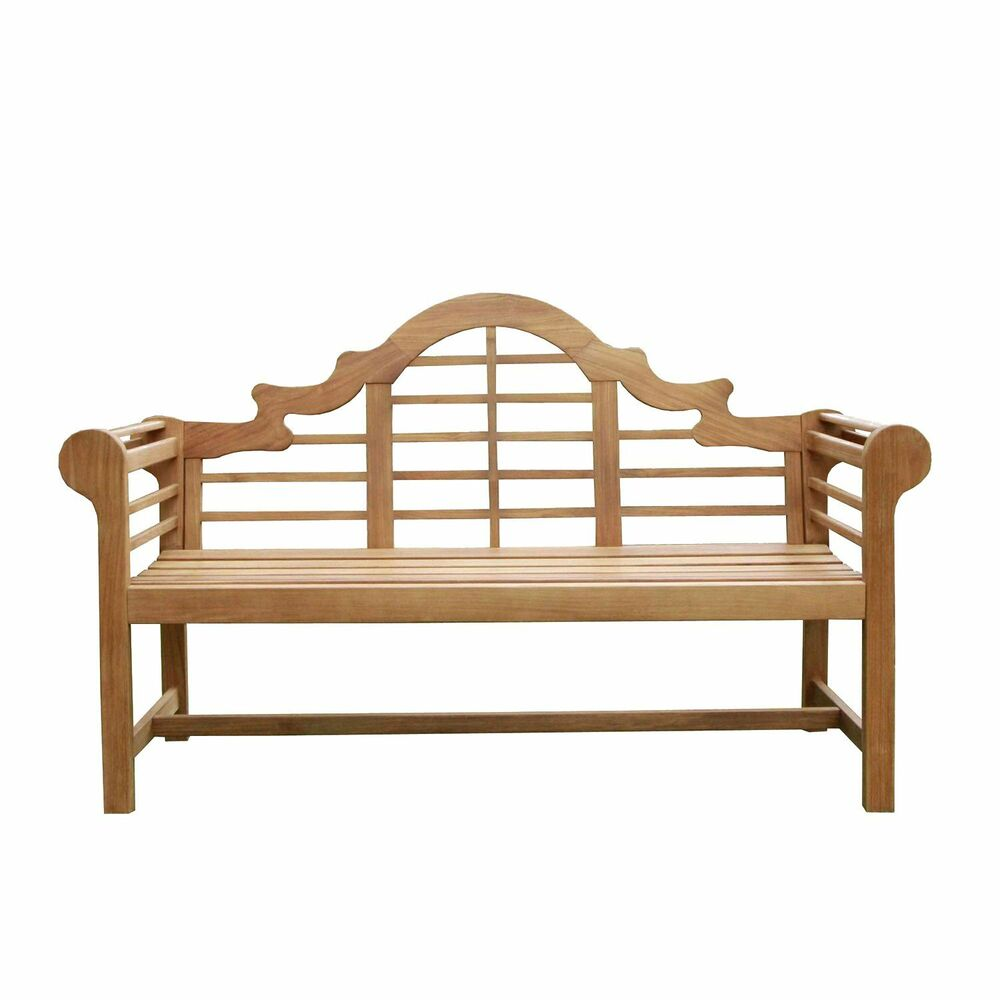 New patio porch solid teak wood lutyens bench chair 5 39 outdoor garden furniture ebay Lutyens bench