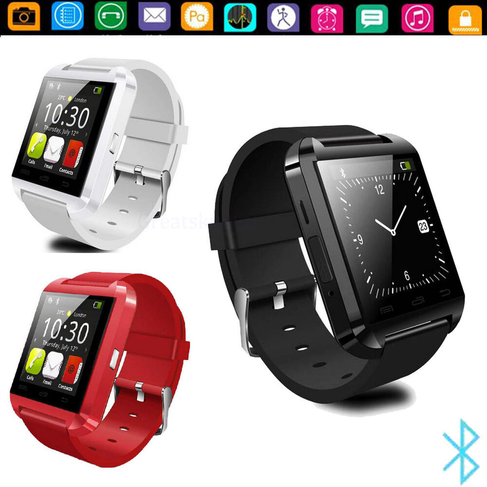 Bluetooth Smart Wrist Watch For Android Samsung S6 Note 4 ...