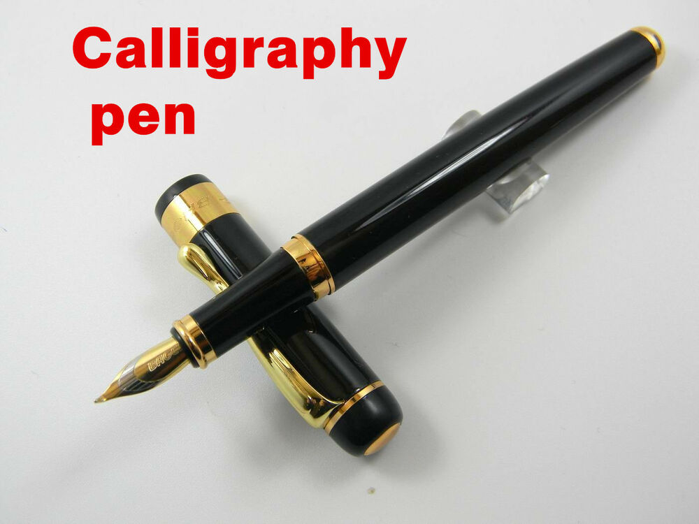 Calligraphy pen shiny black medium nib baoer 500 fountain Ballpoint pen calligraphy
