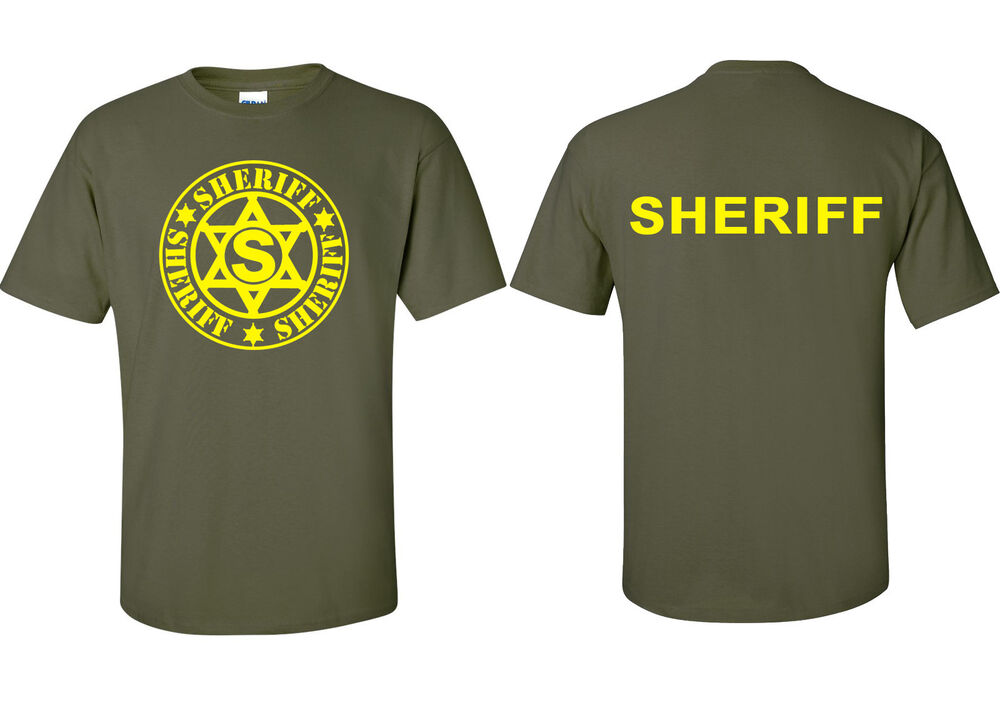 deputy sheriff and police law enforcement cotton t shirts
