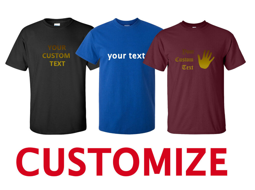 Create personalized custom text your own text t shirt for Design your own custom t shirts