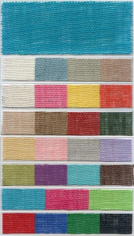 Colored burlap 48 wide 30 foot roll ebay for Colored burlap fabric