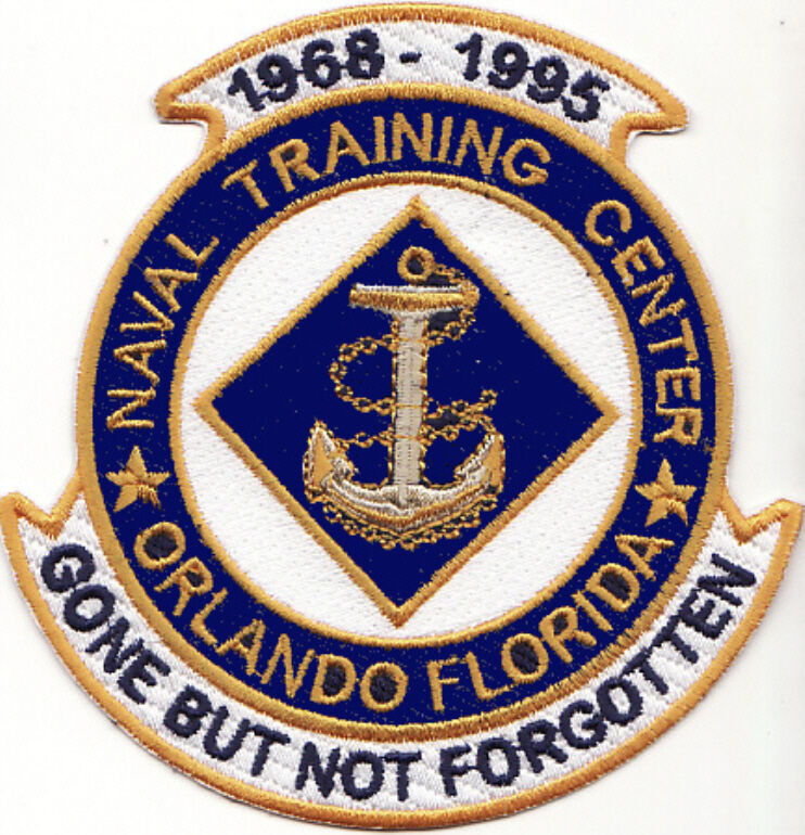 US NAVY BASE PATCH, ORLANDO NTC, FLORIDA, GONE BUT NOT FORGOTTEN Y ...