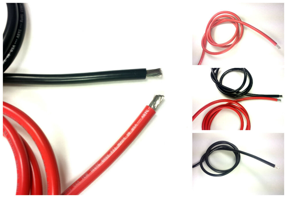 8 Awg Gauge Battery Cable Marine Grade Wire Tinned Copper Auto Boat Solar Ebay
