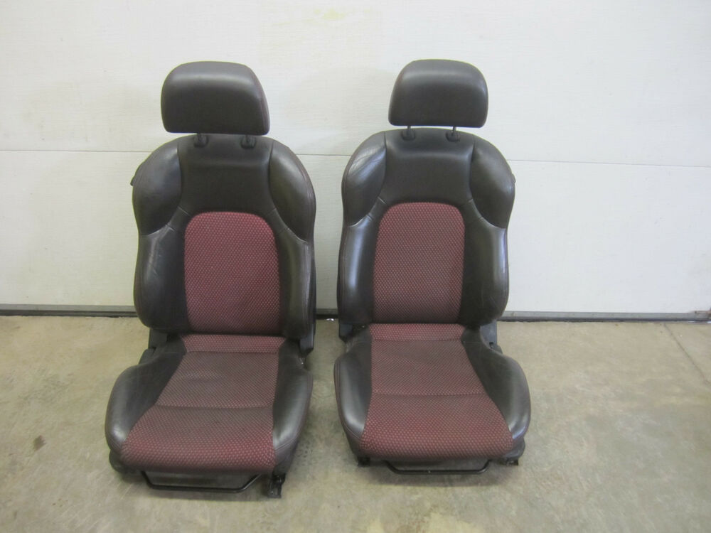 06 TIBURON GT FRONT BUCKET SEAT CAR 04 05 03 07 08 BLACK LEATHER RED L LH RH R | eBay