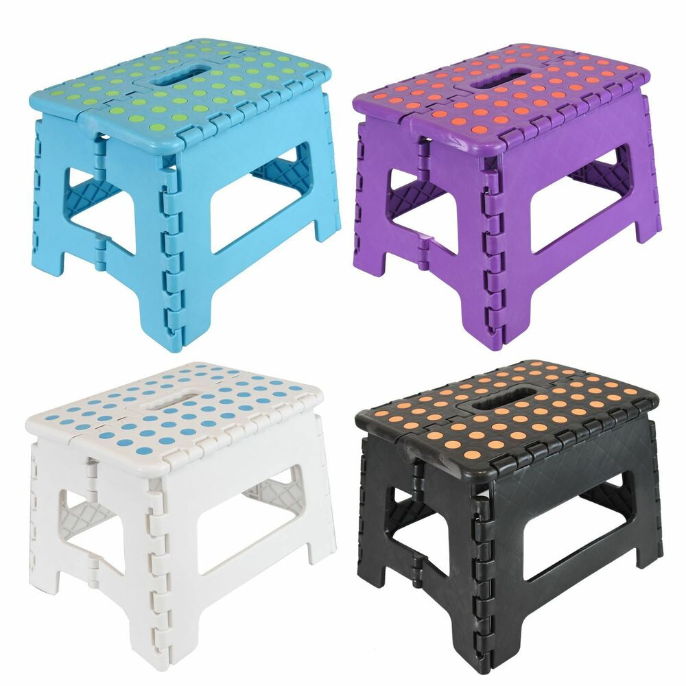 Small Easy Folding Step Stool Chair Seat Light Weight