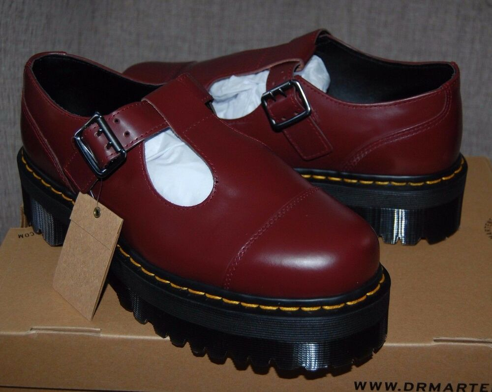 nib dr martens women 39 s bethan cherry red aggy style. Black Bedroom Furniture Sets. Home Design Ideas