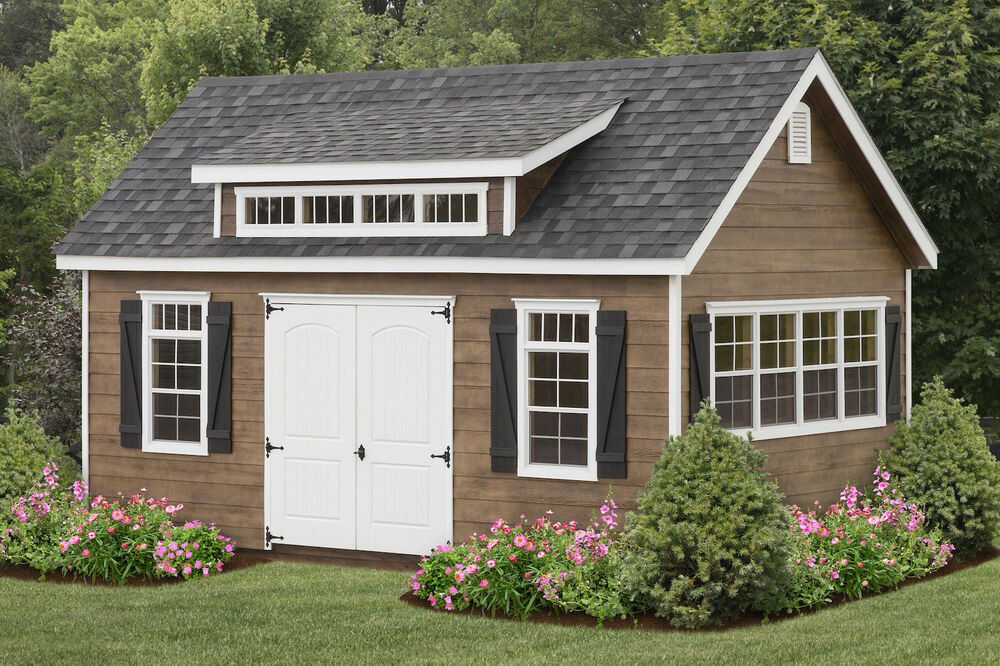 AMISH BUILT 12x20 A-FRAME STORAGE SHED LAP SIDING WITH ... on Elite Outdoor Buildings id=91539