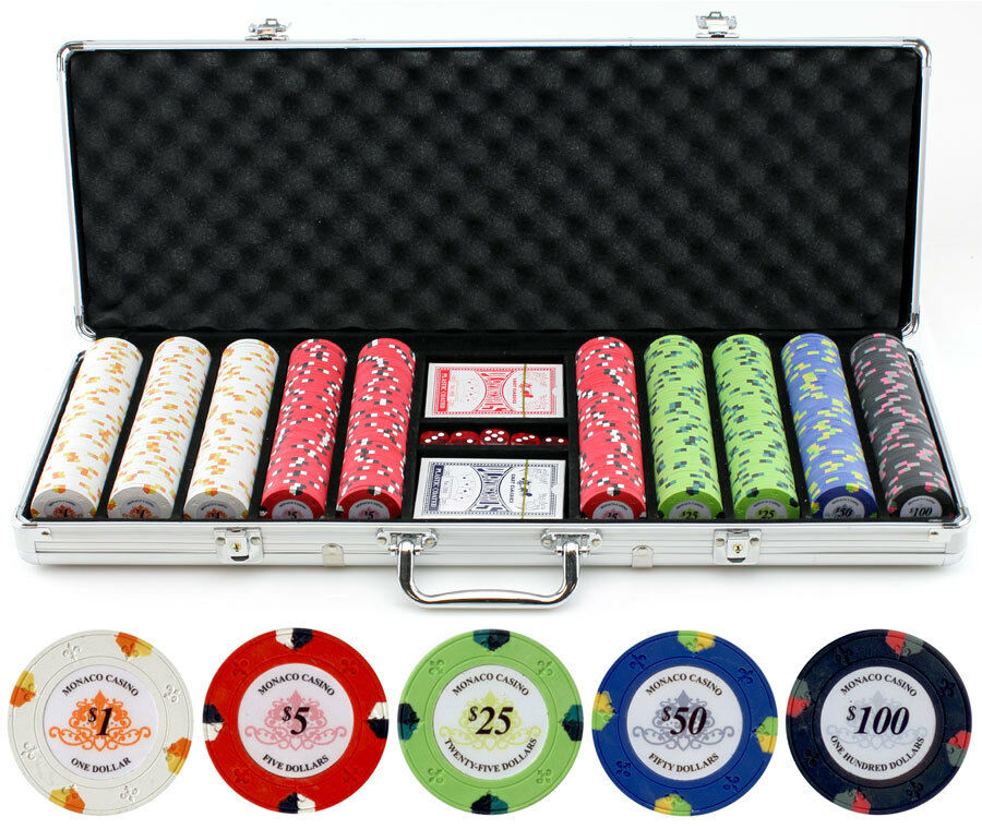 500 clay casino poker chips cards dice set gentings casino southend new years eve
