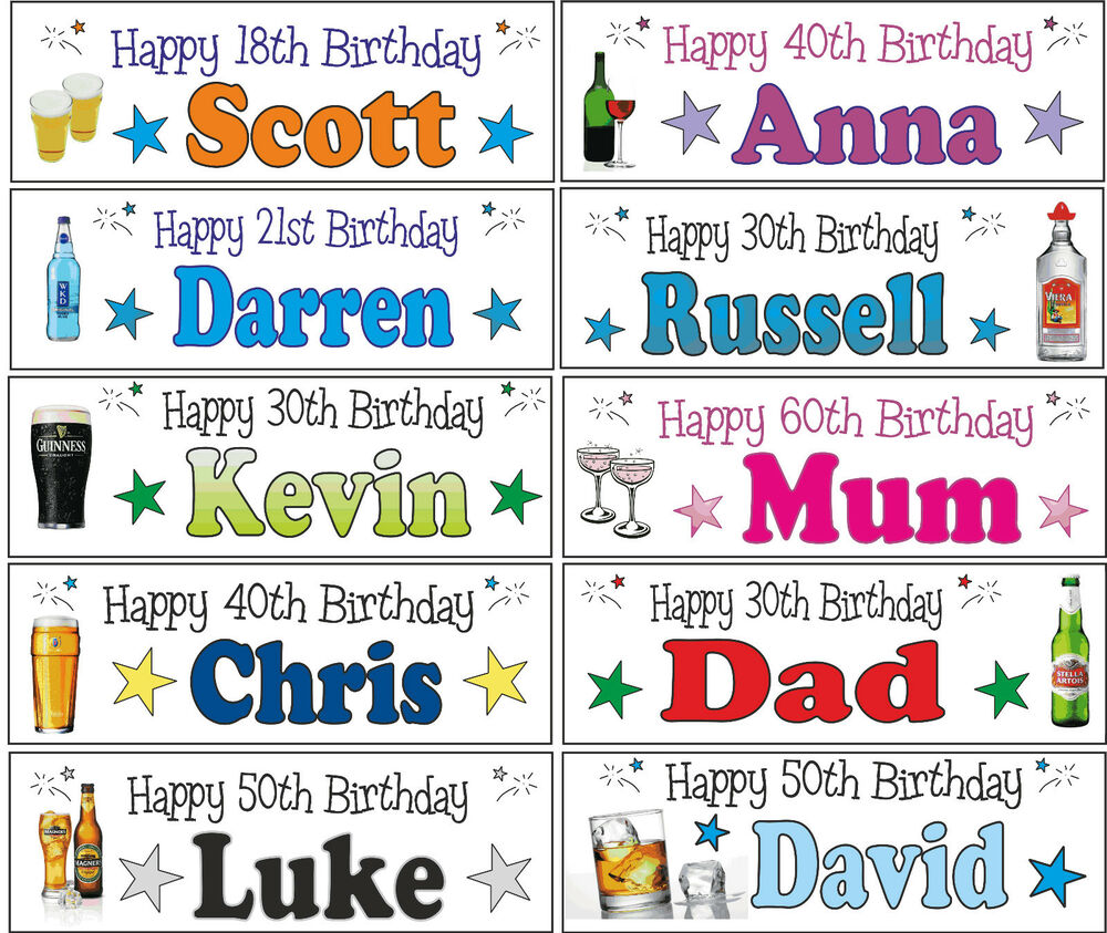 3ft Personalised 13th 16th 18th 21st 30th 40th 50th 60th