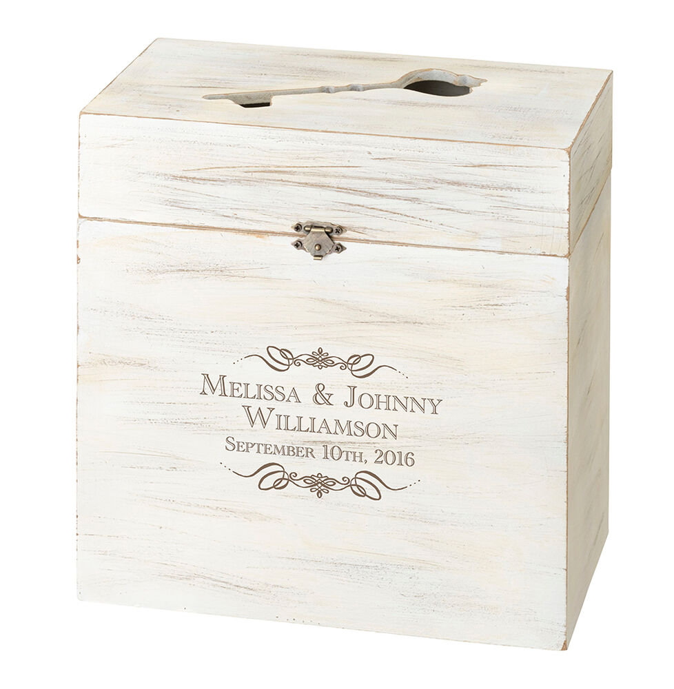 WOODEN KEY BOX ALTERNATIVE WEDDING GUEST BOOK/CARD BOX-PERSONALIZE ...