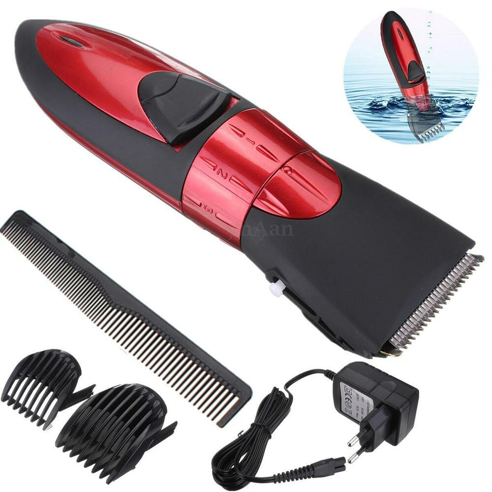 washable rechargeable electric hair clipper beard trimmer cutting machine kit ebay. Black Bedroom Furniture Sets. Home Design Ideas