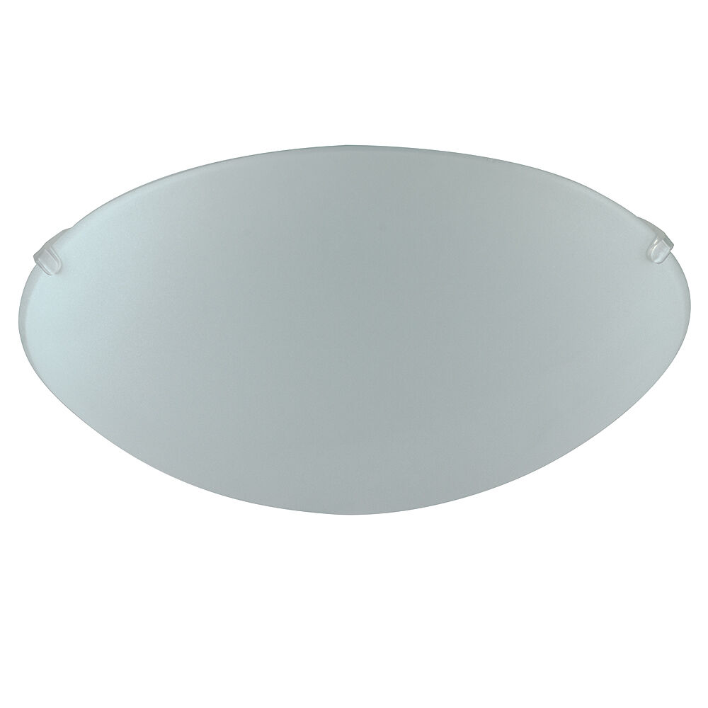 Ceiling Dome Light: Modern Frosted White Glass Round Flush Dome Ceiling Light