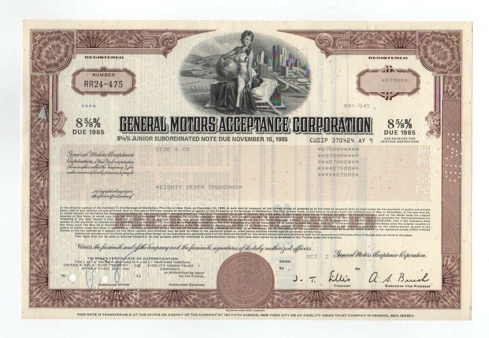 general motors acceptance corporation bond ebay