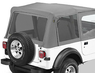 bestop mesh window kit jeep wrangler yj 1987 1995 ebay. Black Bedroom Furniture Sets. Home Design Ideas