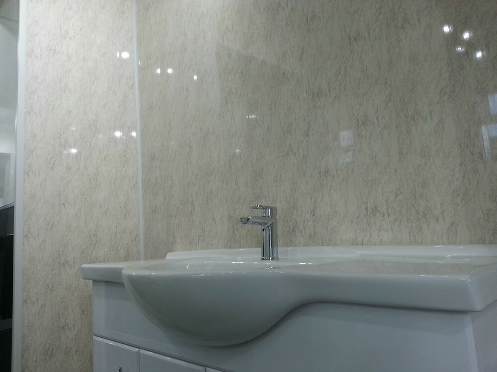 9 Beige Granite Bathroom Wall Panels Decor Cladding Waterproof Pvc Shower Panels Ebay
