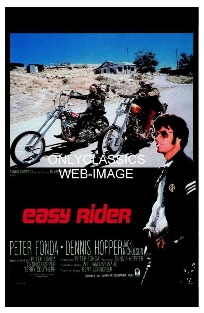 1969 EASY RIDER HARLEY DAVIDSON CHOPPER MOTORCYCLE MOVIE POSTER FONDA ... Easy Rider Movie Poster