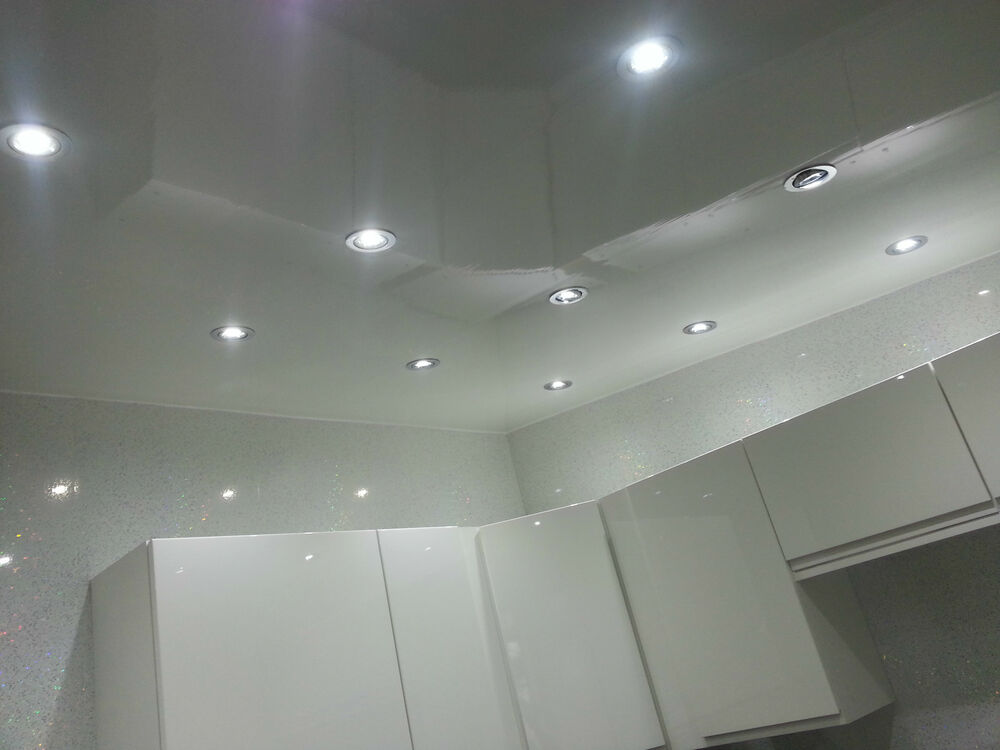 7 Gloss White Pvc Ceiling Panels Plain White Plastic Waterproof Cladding Panels Ebay